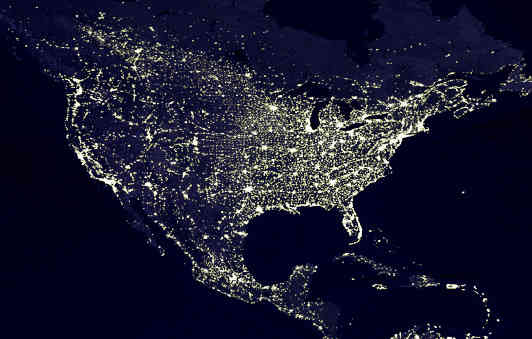 night light footprint north america nasa - photo #4